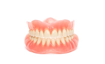 full set of porcelain dentures